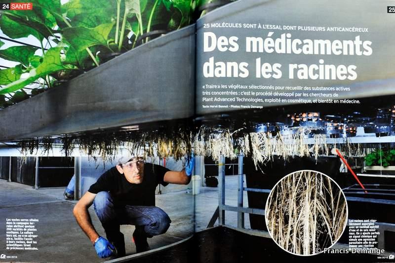 """""""DES MÉDICAMENTS DANS LES RACINES"""". (4 pages) Magazine """"ça m'intéresse"""" mai 2016."""