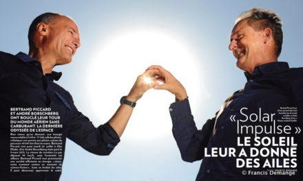 """""""Solar Impulse"""" Le soleil leur a donné des ailes. (PARIS MATCH du 4 au 10 août 2016)"""