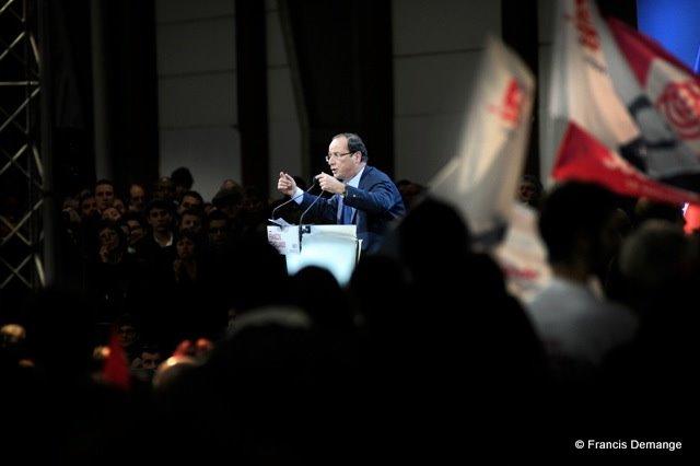 05/03/12. François Hollande, candidat a la présidentielle 2012, en déplacement en Lorraine.