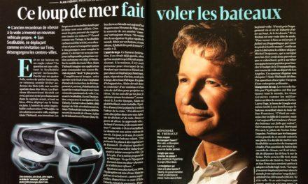 Alain Thebault, l'homme qui fait voler les bateaux . Magazine 01 Net du 1er au 14 février 2017.