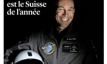 Le Matin Dimanche (SUISSE) du 18 Décembre 2016 : Bertrand PICCARD est le Suisse de l'année.