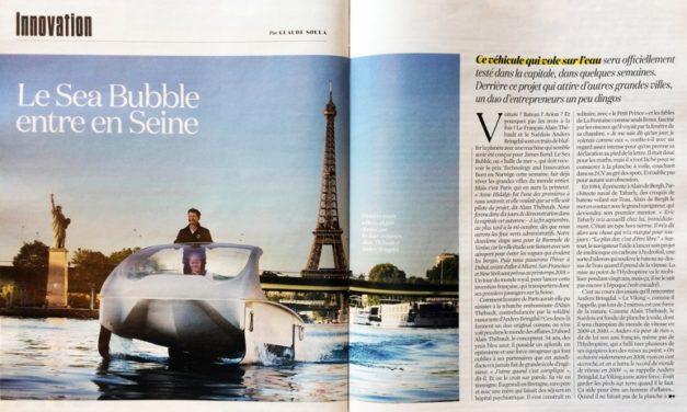 Le Sea Bubble entre en Seine (4 pages) : Magazine L'OBS du 21 au 27 juillet 2017