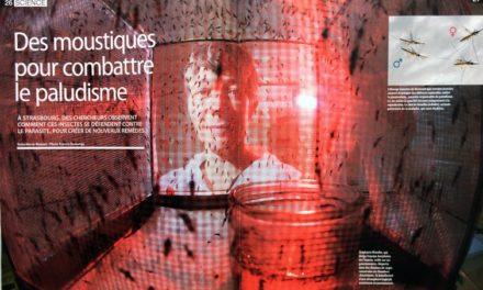 """DES MOUSTIQUES POUR COMBATTRE LE PALUDISME – Magazine """"ça m'intéresse""""  Mai 2018 (4 pages reportage)."""