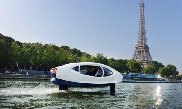 Les SeaBubbles, les taxis qui volent au-dessus de l'eau, ont procédé à de nouveaux essais sur la Seine.