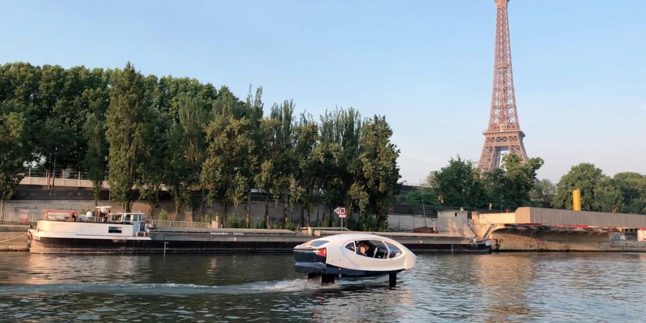 """""""Seabubble"""" Le taxi volant entre en Seine."""